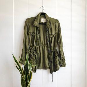Military Style Drawstring Jacket